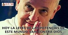 PAPA FRANCISCO AVISA LA APOSTASIA Un resumen de lo mejor de estos tres días con nuestro querido Papa Francisco, DESTACANDO SU ALERTA PARA TODOS FRENTE A LAS LEYES QUE LAS NACIONES PODEROSAS ESTÁN IMPONIENDO: Queridos hermanos el Papa Francisco en estos días nos ha dicho en Síntesis: El 12 en su homilía matinal en la casa de Santa Marta: Como Esteban y los inocentes asesinados por Herodes, hoy se asesina por Cristo, y se persigue sutilmente con guante blanco, cuando se le quita el trabajo...