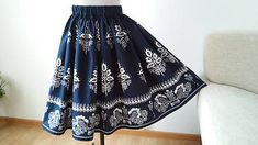Sukňa folklórna, tmavo - modrá / Zitus - SAShE.sk Folk, Skirts, Clothes, Fashion, Outfits, Moda, Clothing, Popular, Kleding