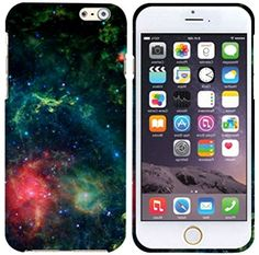 """myLife Black, Green, and Red {Twinkling Starry Colorful Galaxy} 2 Piece Snap-On Rubberized Protective Faceplate Case for the NEW iPhone 6 (6G) 6th Generation Phone by Apple, 4.7"""" Screen Version """"All Ports Accessible"""" myLife Brand Products http://www.amazon.com/dp/B00U0KLHES/ref=cm_sw_r_pi_dp_x0gfvb1MDMD04"""
