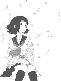 Pretty manga illustration