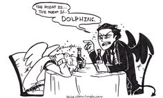 Crowley and Aziraphale getting drunk. This scene made me fall in love with the book XD