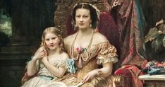 HM the Queen of Hanover Marie of Saxe-Altenburg Duchess of Cumberland and Brunswick with her Daughter the Princess Marie of Hanover. Vintage Paintings, Hm The Queen, Royal Blood, Old Soul, Mother And Child, Royalty, Daughter, Princess, History