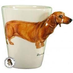 Cute sculpted Dachshund coffee mug!