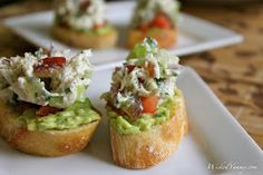 Wicked Yummy: Chicken Salad and Avocado Crostini