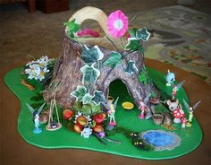 Filth Wizardry: DIY Pixie Hollow from aluminium foil and salt dough - Mummy might need to make this and Peyton just play