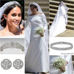 Duchess of Sussex Style! Dress: Givenchy; Shoes: Givenchy; Tiara: Queen Mary's Diamond bandeau; Jewels: Cartier earrings and bracelet✨ . - Ms. Meghan Markle's wedding dress has been designed by the acclaimed British designer, Clare Waight Keller. Ms. Waight Keller last year became the first female Artistic Director at the historic French fashion house Givenchy.