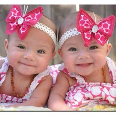 Items similar to Butterfly Baby Headband - White and Hot Pink Polka Dot, Hot Pink Trim on Etsy Twin Baby Girls, Twin Babies, My Baby Girl, Baby Kids, Cute Little Baby, Little Babies, Cute Babies, Beautiful Children, Beautiful Babies