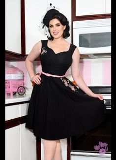 Annalise Dress in Black with Pink Tipsy Elephants - and who doesn't want drunk elephants on their dress???