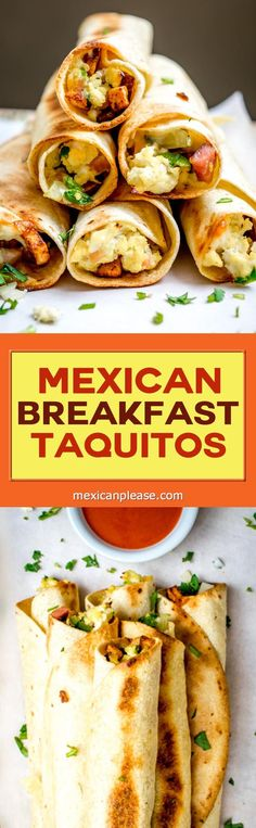 mexican breakfast taquitos these baked taquitos make for a quick ...