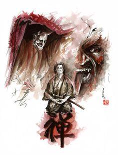 SAMURAI ZEN MEDITATION ART by SamuraiArt, $130.00