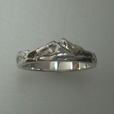 Twin Peaks Ring - Sterling Silver - Colorado Mountain Range ring