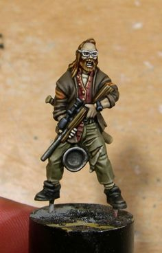 Awesome Painted Ned model from Zombicide - Only wish i could paint, then I could do this!