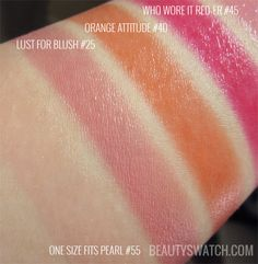 Maybelline Color Whisper One Size Fits Pearl Lust for Blush Orange Attitude Who Wore It Reder | BeautySwatch.com