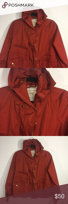 Zara Light Jacket - Wmns, Red/Orange, Size L Zara Light Outerwear Jacket   Size: Large (Women's)   Color: Red Orange   Condition: Pre-owned 10/10 (Amazing like-new condition! Shows no sign of wearing! Zara Jackets & Coats