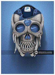 /// Nike designs Blue #Skull