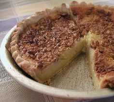 Buttermilk pie is a favorite Thanksgiving dessert staple in Texas. This is a delicious, old-fashioned Buttermilk Pie using basic ingredients from the pantry. Most famllys consider this pie their favorite Just Desserts, Delicious Desserts, Yummy Food, Layered Desserts, Pie Recipes, Dessert Recipes, Cooking Recipes, What's Cooking, Baileys Recipes