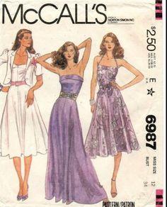Dress Making Patterns, Vintage Dress Patterns, Clothing Patterns, Vintage Dresses, Vintage Outfits, 80s Fashion, Vintage Fashion, 1980s Dresses, Fashion Design Sketches