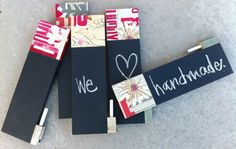 scrap wood for tiny chalkboard notes
