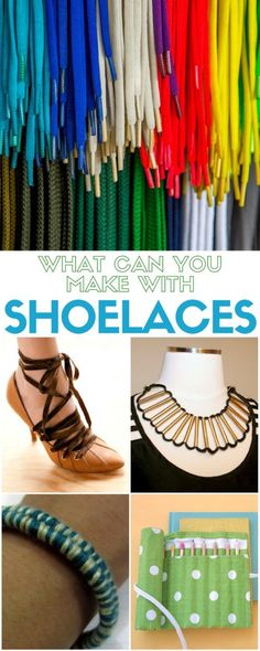 Shoelaces are for so much for than keeping your shoes on your feet. Learn simple DIY craft tutorial ideas on what you can make with shoelaces. DIY fashion