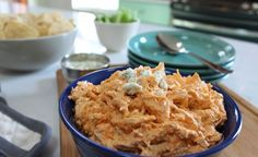 Buffalo Shredded Chicken Dip