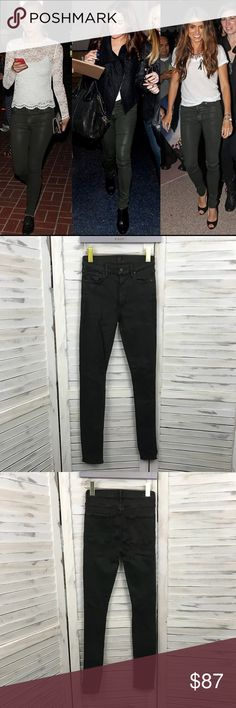"""COH Coated Dark Olive Jeggings Jeans Sz 27 Citizens of Humanity COH Womens 27 Jeggings Coated Jeans   Approximate measurements: Waist: 25"""" (pants have moderate amount of stretch) Inseam: 29""""  Condition: Very good, no flaws. Citizens Of Humanity Jeans Skinny"""