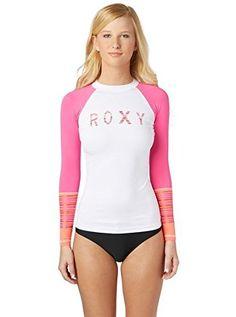 66b611fdcc1 Women's Rash Guard Shirts - Roxy Juniors Perfect Stripe LongSleeve Rash  Guard * You can get