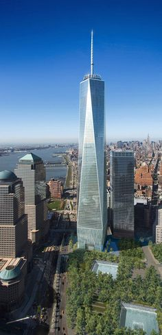 New One World Trade Center,Freedom Tower as she guards the nearby Twin Towers Sites- New York
