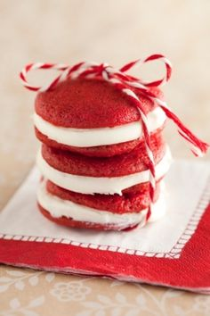 This whoopie pie cream is the icing my grammy and her sisters used to make on their red velvet cakes.