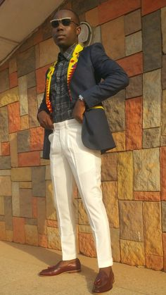 Front pleated trouser African Men Fashion, Mens Fashion, Trousers, Suits, Men Fashion, Trouser Pants, Man Fashion, Pants, Outfits