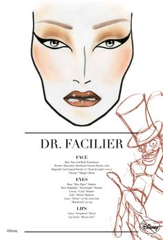 Dr. Facilier Mac Cosmetics Face Chart