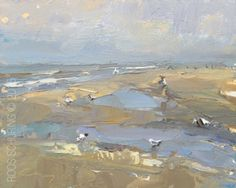 SW14-2015 Schuring Seascape Morning Paddling and birds