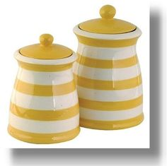 yellow kitchen accessories. Love these! My hub wouldn't like tho haha