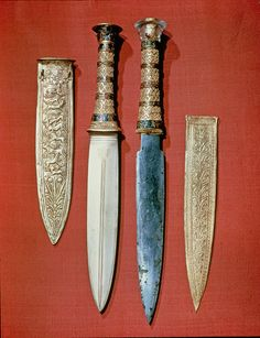 The king's two daggers, from the tomb of Tutankhamun (gold & meteoric iron)