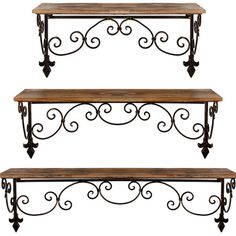3 Piece Claudette Wall Shelf Set