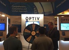 Visit our booth at #FOCUS16 and spin the Wheel of Security for a chance to win some great prizes! While you're there ask about Optiv careers. Guy this Prize Wheel at https://PrizeWheel.com/products/floor-prize-wheels/big-40-prize-wheel/.