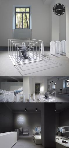 BEST OF MILAN DESIGN WEEK 2014 | One of COS' flagship products, the white shirt, stared in an installation designed by Nendo. http://www.yatzer.com/best-of-milan-design-week-2014