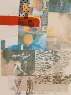 Untitled ARTIST / MAKER: Robert Rauschenberg, 1925 - 2008 COLLECTION: American Art DATE: 1982 CLASSIFICATION: Prints MEDIUM: Screenprint in colors DIMENSIONS: Frame: 35 1/2 x 28 in. (90.2 x 71.1 cm) Image (paper): 29 x 21 1/2 in. (73.7 x 54.6 cm) CREDIT LINE: Gift of the American Art Foundation CREDIT LINE REPRODUCTION: Art © Robert Rauschenberg Foundation/Licensed by VAGA, New York, NY OBJECT NUMBER: 1984.2.1.f