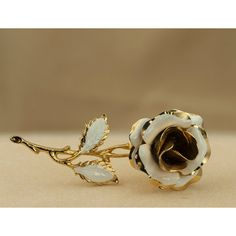 Vintage White and Gold Tone Enameled Rose Brooch ($16) ❤ liked on Polyvore featuring jewelry, brooches, goldtone jewelry, enamel flower jewelry, rose jewelry, rose flower jewelry and rose brooch
