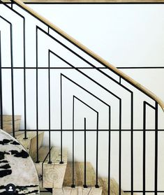 A delightful visit today to the NYC office of the talented Metal Stair Railing, Metal Handrails, Stair Handrail, Cottage Stairs, Tower Apartment, Stairways, Nyc, Instagram Posts, Modern