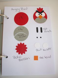 Angry Birds punch art bookmark - instructions Stampin With Rachael: Punch Art Class