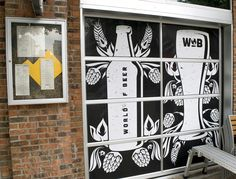When the World of Beer called, we hopped at the chance to work with such a cool company. #Printing and installing these black and white window #graphics made a huge impact on the vibe of their Midtown location. If you haven't visited the World of Beer, make it your weekend mission! #windowgraphics