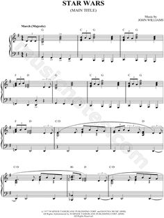 "Sheet Music: ""Star Wars"""