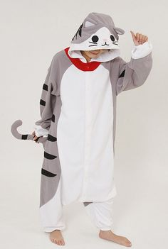 How cool are these are these animal onesies? :)Cat Adult Onesie Pajamas1