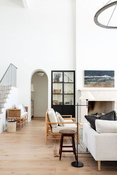 Villa Sol, Ideas Decoracion Salon, Best White Paint, Open Concept Floor Plans, White Couches, Gray Sofa, Studio Mcgee, Home Studio, Formal Living Rooms