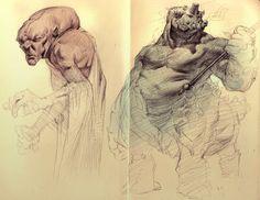 Moleskine Sketches by PkLklMike.deviantart.com on @deviantART
