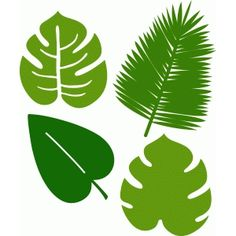 Silhouette Design Store: 4 tropical leaves