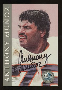 54b5d1e9635 Anthony Muñoz Signed 1998 NFL HOF Signature Series Platinum  2500   FootballCards Football Trading Cards