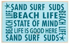 Beach Life State Of Mind Wood Sign