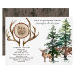 Forest Woodland Country Deer Antler Baby Shower Invitation - animal gift ideas animals and pets diy customize Baby Shower Cakes, Baby Boy Shower, Baby Shower Gifts, Baby Showers, Baby Shower Invitations For Boys, Newborn Baby Gifts, Deer Antlers, Pet Gifts, Woodland