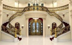 Beautiful grand staircases